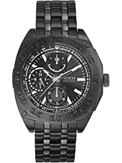 amazon com guess men s diamond collection watch u11576g1 guess guess black sports watch