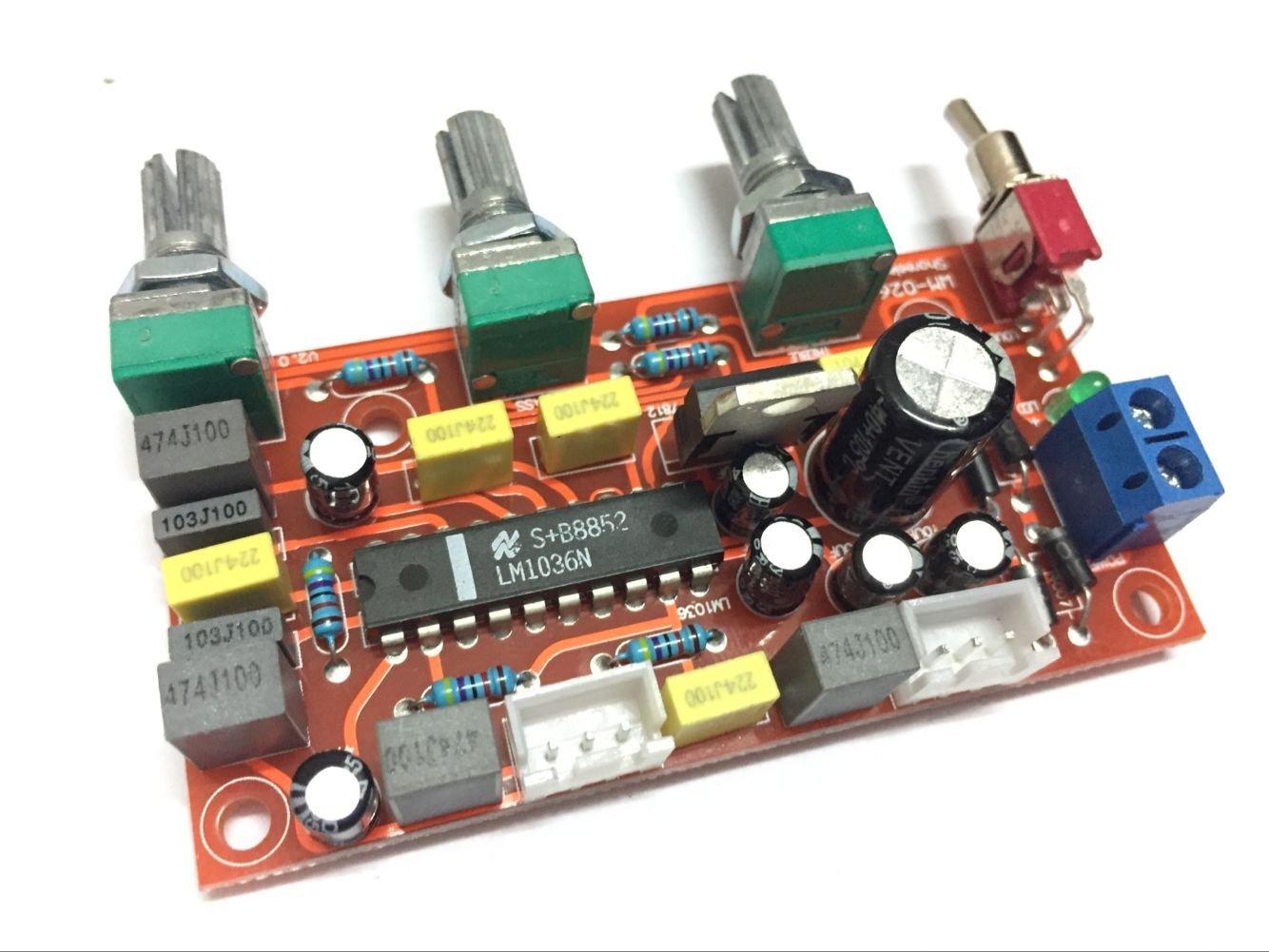 Scheda di sintonia frontale dell'amplificatore di potenza HIFI classe LM1036 LIDONGDIANZI
