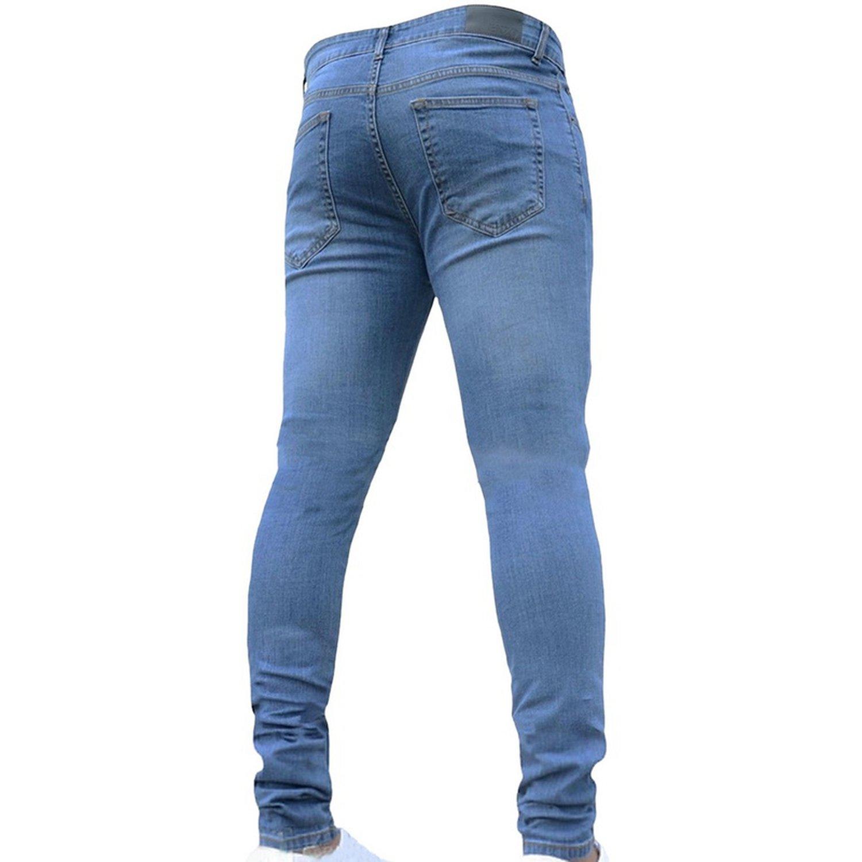 Amazon.com: Memoriesed Pantalones vaqueros para hombre de la ...