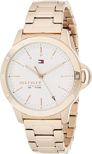 De Verdad Aclarar Alcalde  Amazon.com: Tommy Hilfiger 1782024 - Reloj de cuarzo para mujer (acero  inoxidable, correa de color dorado clavel): Watches