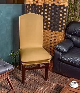 غطاء كرسي سترتش ذهبي