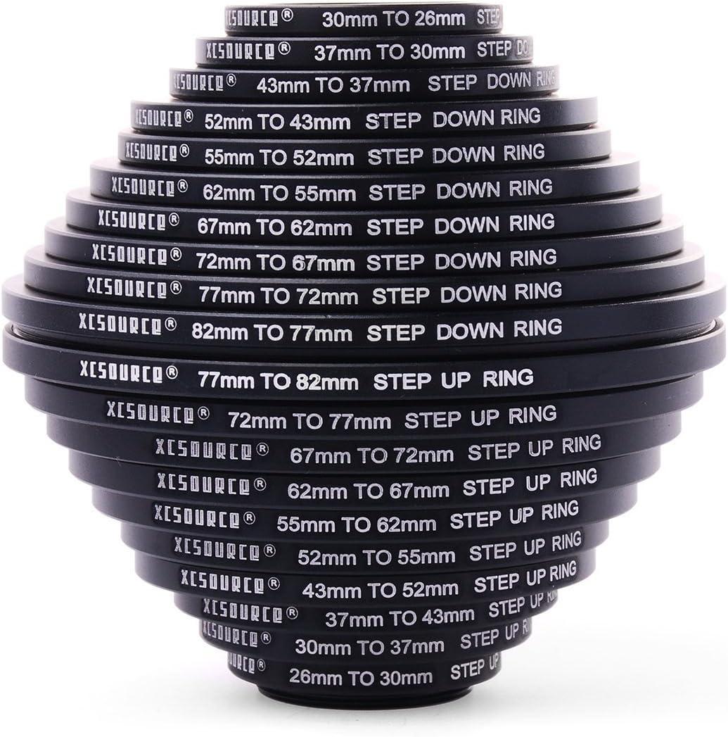 Step Down Rings Set 37mm-82mm 82mm-3 EE/_ EG/_ 18x Lens Adapter Filter Step Up