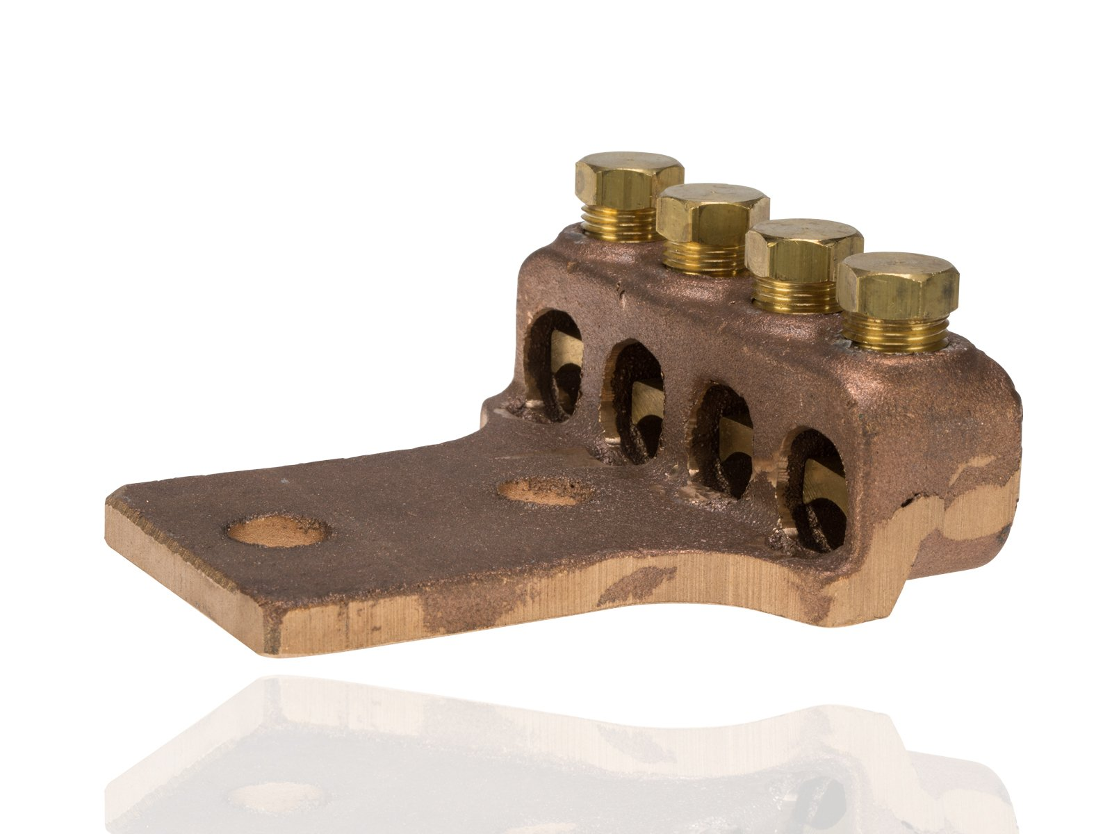 Split Bolt, Post and Tap Connector, Type TL Copper and Cast Bronze Terminal Lug, 4/0 str - 300 MCM Wire Range, 1/2'' Bolt Hole Size, 2 Holes, 1000 Amp Nec, 4'' Width, 1.25'' Height, 4.313'' Length by NSI