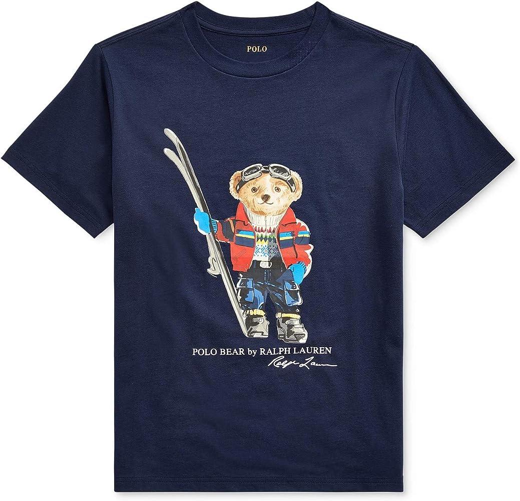 Ralph Lauren - Polo para niño con Cuello Redondo - Azul - Small ...