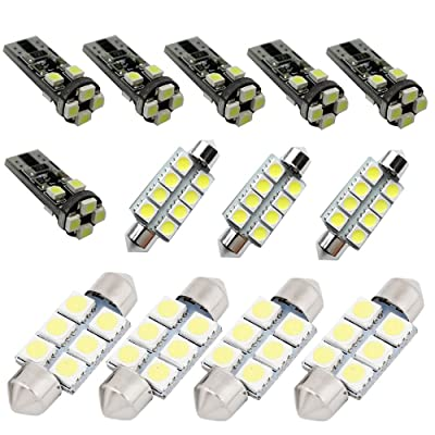 For Vw Volkswagen Golf4/5/6/7 Gti Led Interior Lights Led Interior Car Lights Bulbs Kit White 2005-2020 13Pcs: Automotive