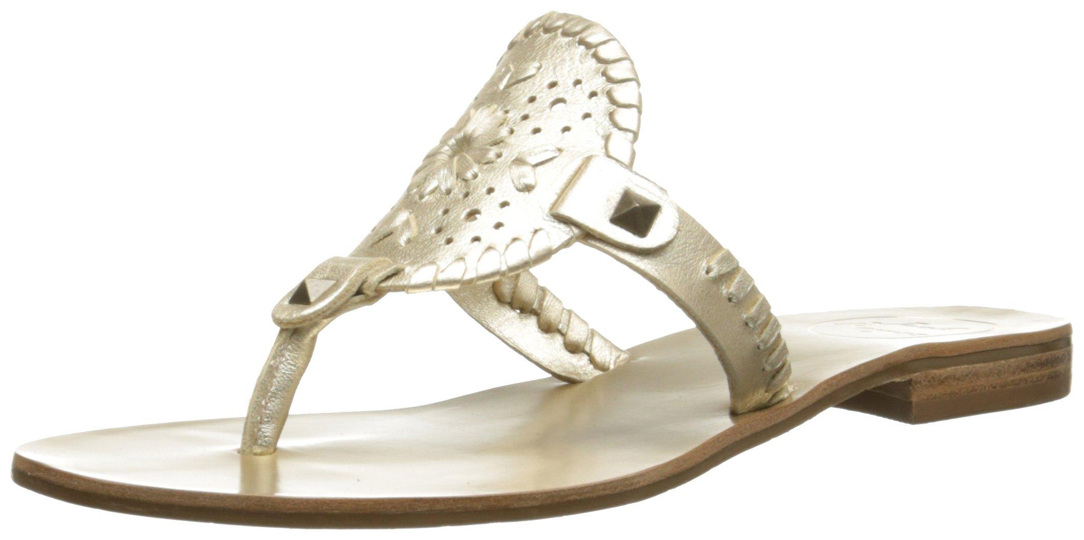 Jack Rogers Women's Georgica Sandal, Platinum, 8.5 M US by Jack Rogers