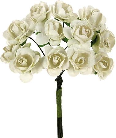 Decorazioni Bomboniere Matrimonio.Stefanazzi 144 Pezzi Piccole Rose Di Carta Artificiali Per