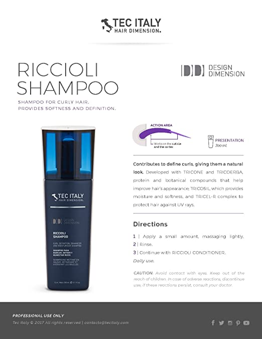 Amazon.com : Tec Italy Curls Package: Scultore Fine 10.1 Oz + Riccioli Conditioner 10.1 Oz + Riccioli Shampoo 10.1 Oz. : Beauty