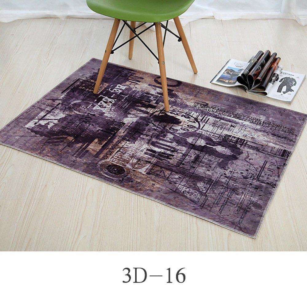 カーペット敷物パーソナライズされたファッションデザイン玄関ベッドルームキッチンマットウォーター長方形パッド吸収性バスルームノンスリップ ( Size : 60*90cm , Style : 3D-16 )   B07BK5K4D7