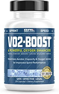 VO2 Boost. Natural Endurance and Oxygen Booster Performance Enhancer to Increase VO2 max w/Rhodiola Rosea, B12, and Alpha Lipoic Acid (120 Capsules)