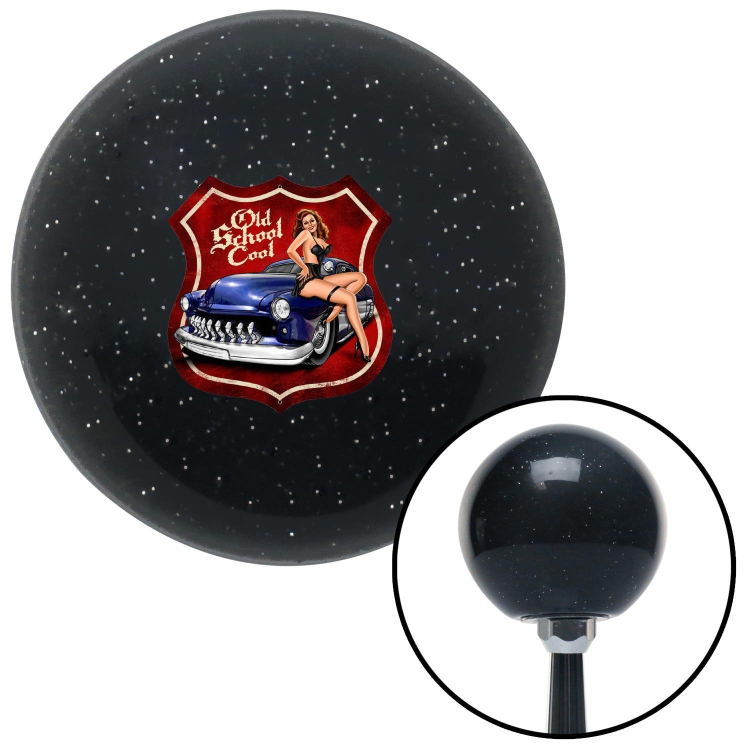 American Shifter 77371 Black Metal Flake Shift Knob with M16 x 1.5 Insert Old School Cool