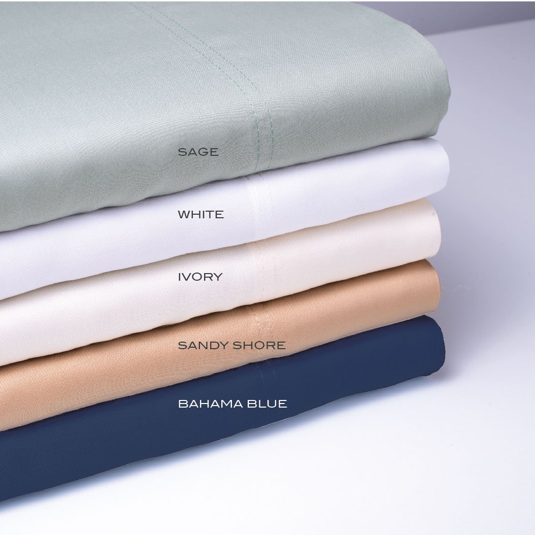 Classic Bamboo Sheets by Cariloha - 4 Piece Bed Sheet Set - Softest Bed Sheets and Pillow Cases - Lifetime Protection (King, Sandy Shore) by Cariloha (Image #4)