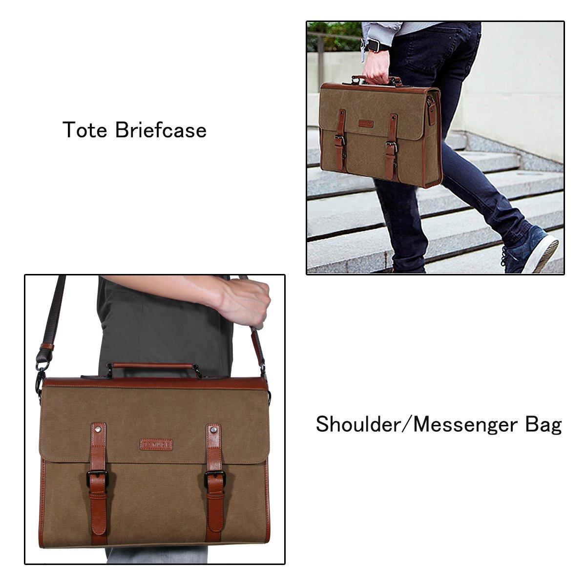 Banuce 13.3 inch Laptop Messenger Bag for Men Vintage Canvas Tote Briefcase Satchel Shoulder Bag by Banuce (Image #7)