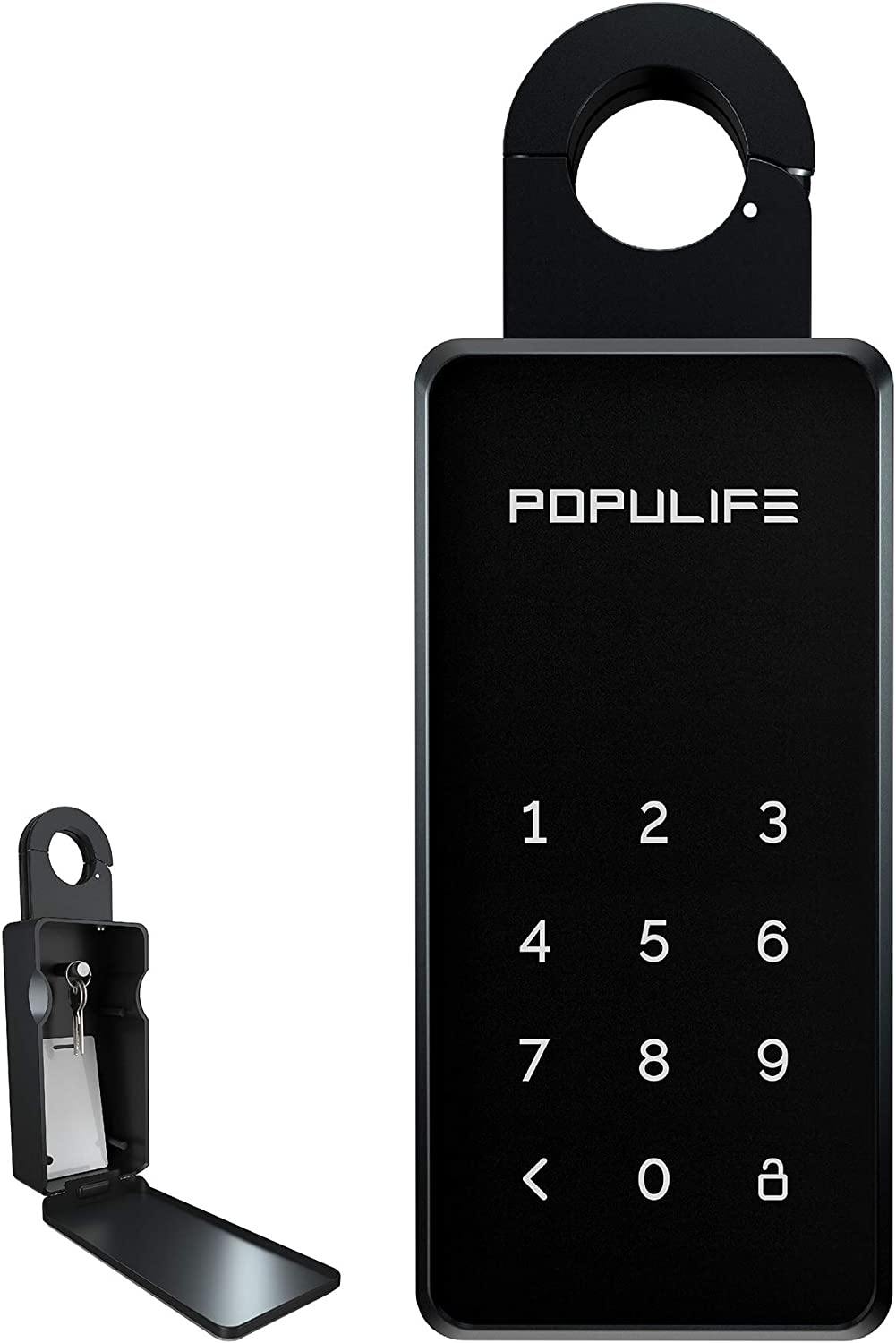 Populife Keybox,IP65 Bluetooth Smart Key Lock Box Replaceable Password for Home, Hotel, School, Office