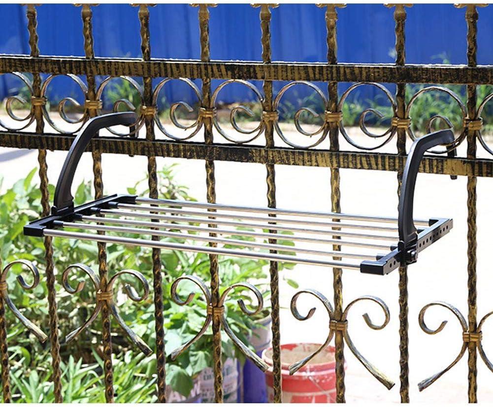 Abilieauty Plegable Toalla Tendedero Acero Inoxidable Ropa Colgante Estantes con Clips para Balc/ón Alf/éizar Large