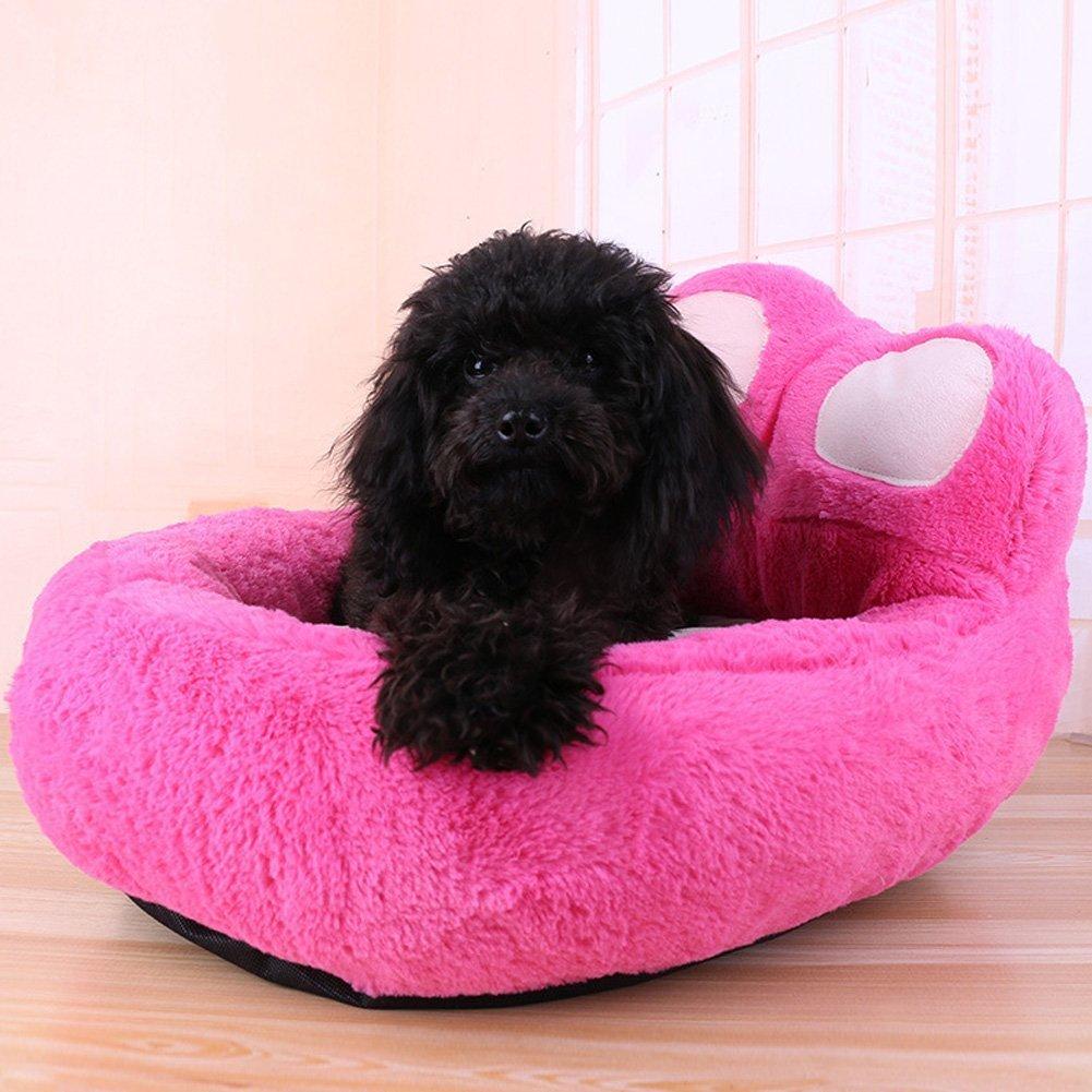 OHlive Confortevole Morbido Letto Caldo stuoia stuoia stuoia per Cani con Letto Rimovibile e Lavabile Cuscino per Cani di Piccola Taglia Cucciolo Gattino (L, rosa Red) 21d45b