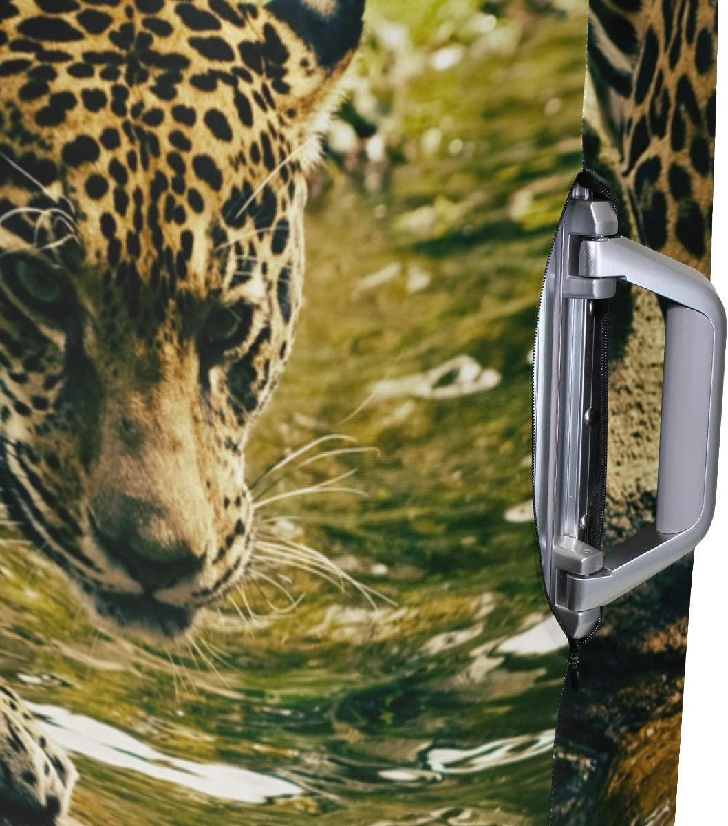 OREZI 3D Nature Leo On Stone Luggage Protector Suitcase Cover 18-32 Inch