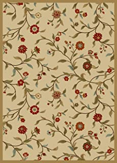 ottomanson otto home collection floral garden design modern area rug with nonskid non