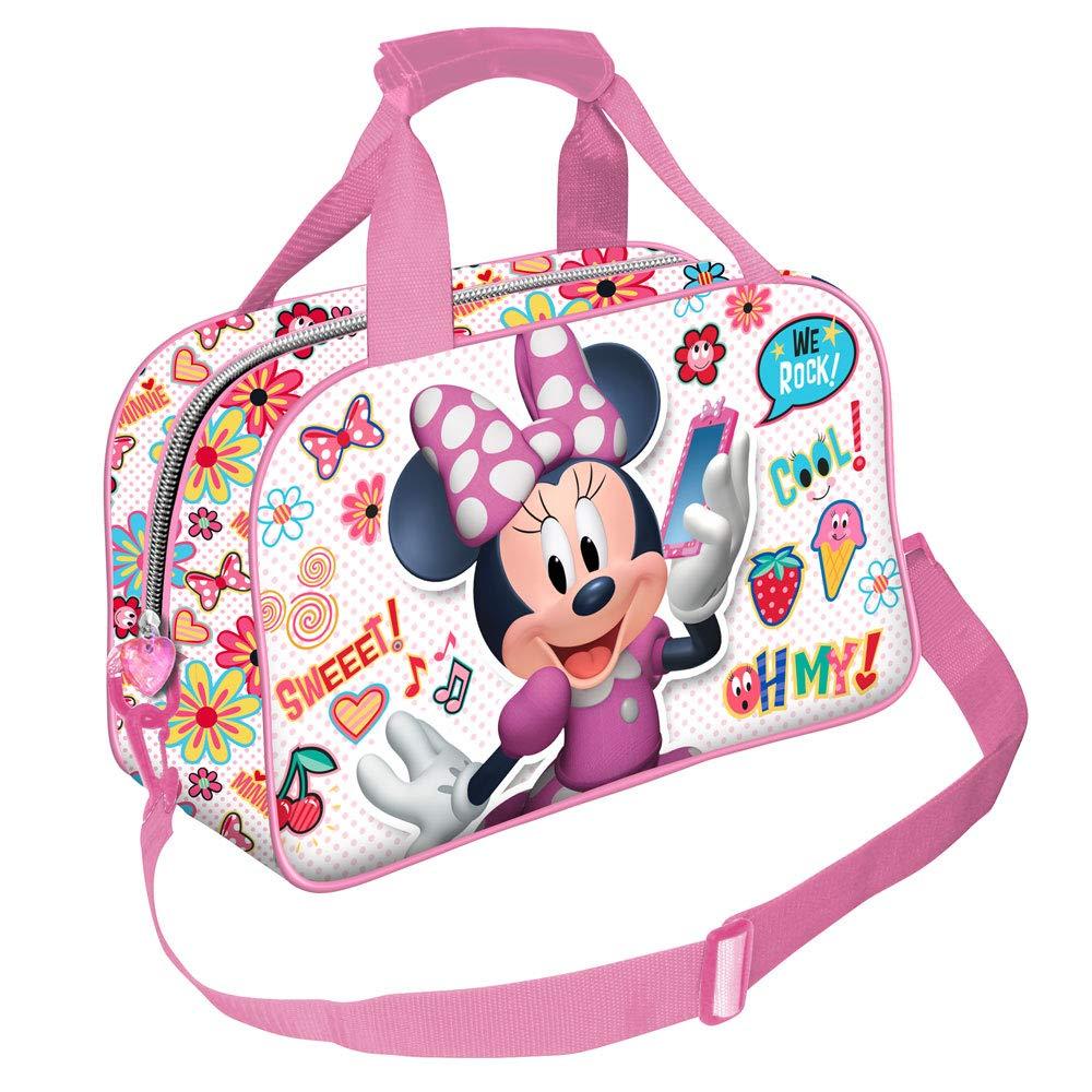 Sac /à Voyage Sport enfant 38cm X 25cm X 15cm multicolore Karactermania Minnie Mouse OhMy