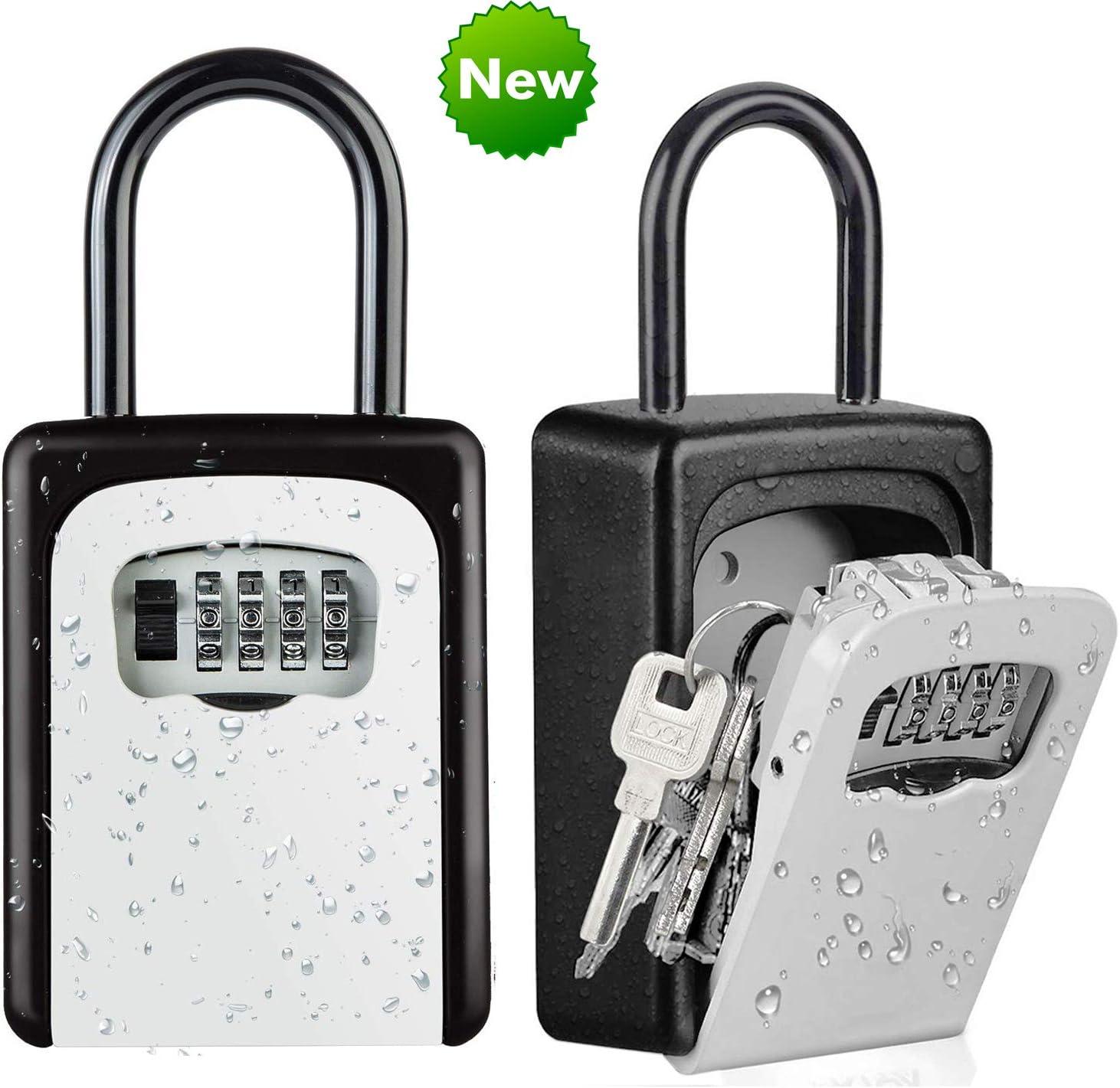 Waterproof Key Safe Heavy Duty Outdoor Secure Wall Mounted Box Lock 4-Digit Lock