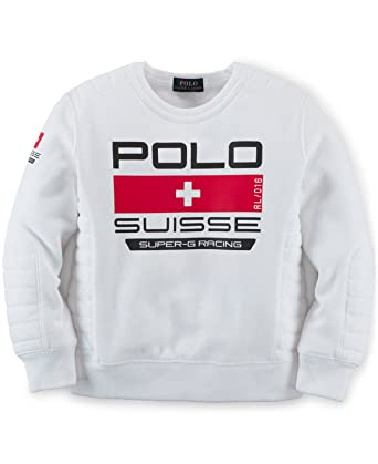 am besten bewerteten neuesten beispiellos seriöse Seite Amazon.com: Ralph Lauren Polo Boys Fleece Suisse Sweatshirt ...