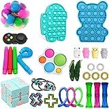 Sensory Fidget Toys 30 Paket Duyusal Kıpır Kıpır Oyuncak Seti, Stres Giderici ve Anti-Anksiyete Oyuncaklar Paketi Push…