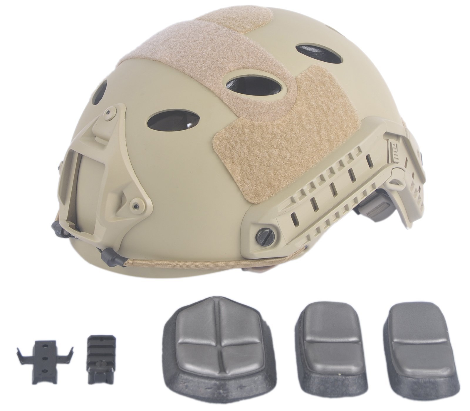 LOOGU Fast PJ Base Jump Military Helmet with 12-in-1 Headwear(SD) by LOOGU