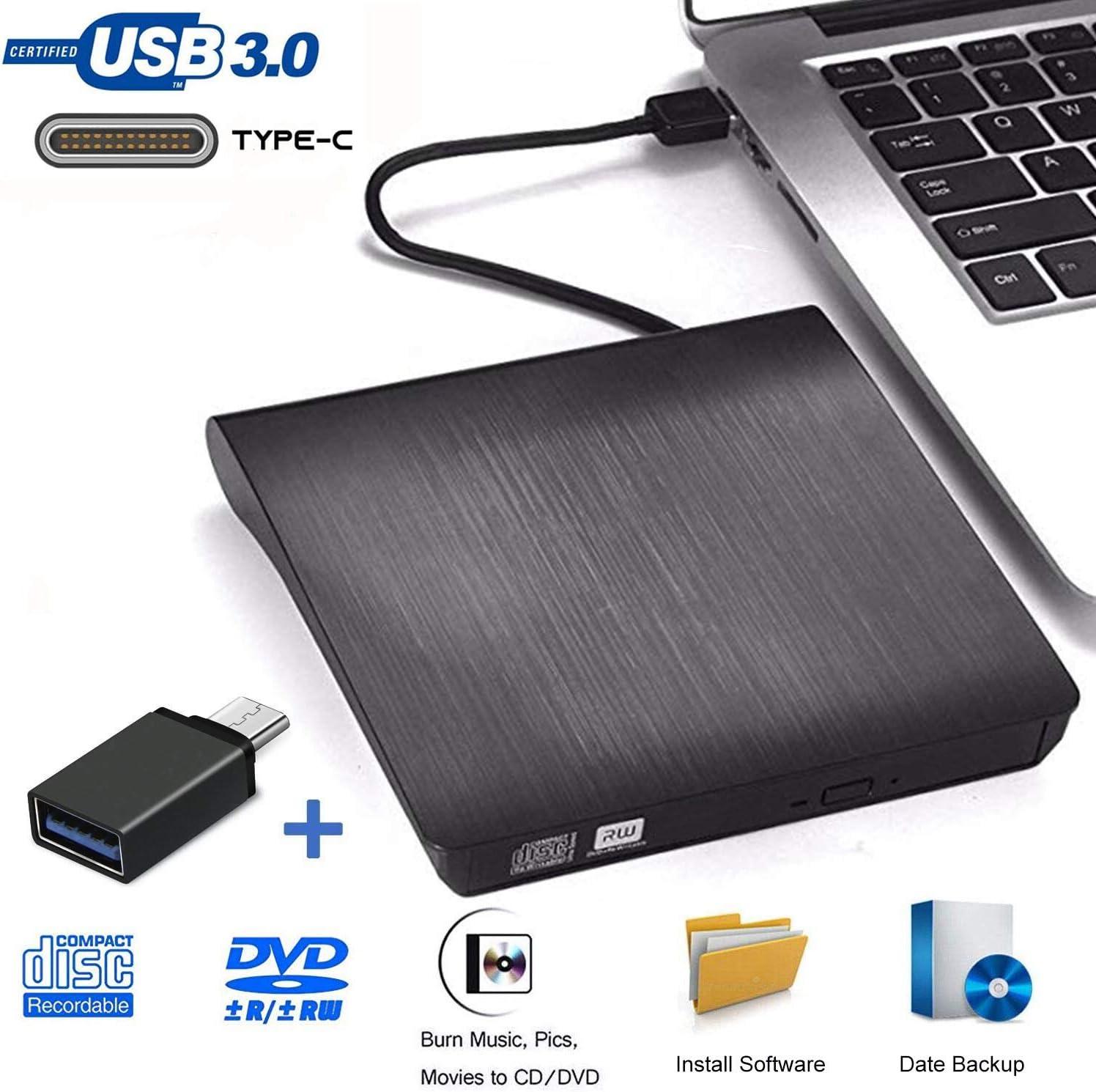 Grabadora DVD Externa, iAmotus Unidades CD/DVD Externas USB 3.0 ...