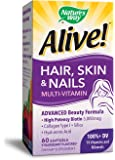 Nature's Way Alive! Hair, Skin & Nails Multi-Vitamin, 60 Count