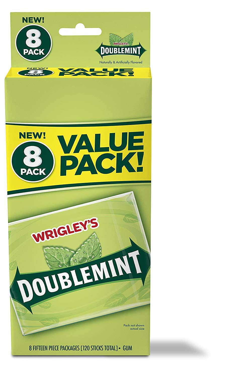 Wrigley's Doublemint Chewing Gum, 6 Value Packs (48 packs total) (4) by Doublemint Gum