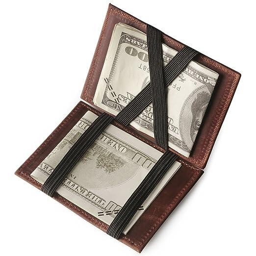 92 opinioni per fermasoldi uomo pelle donna portafoglio magico in simili cuoio magic wallet