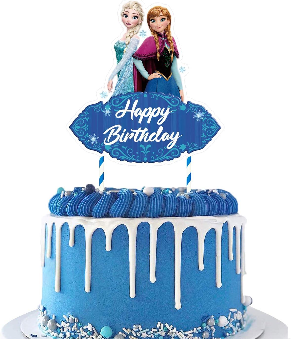 Personalised Cake Topper Snowflake Cake Topper Frozen Cake Topper