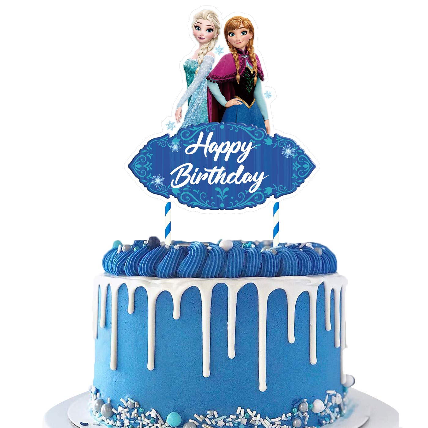 Awesome 1 Cake Topper For Frozen Cake Toppers Decorations Birthday Party Funny Birthday Cards Online Elaedamsfinfo