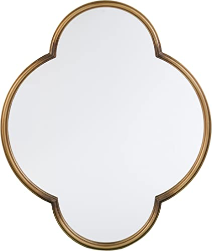 Furniture HotSpot Holly Martin Willis Decorative Wall Mirror – Gold – 30 W x 1.75 D x 36 H
