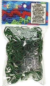 Rainbow Loom Twistz Bandz Latex Free Rubber Band Bag + C-Clips - Dark Green