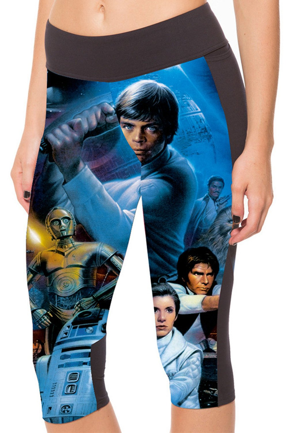 Lady Queen Women's Star Wars Knee Length Tight Sports Capri Pants