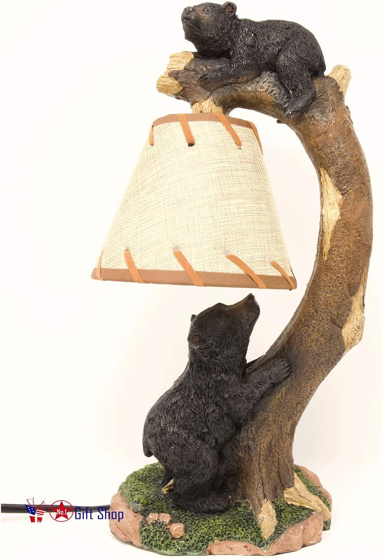 Tree Climbing Bears Lamp/Night Light Cabin Lodge Home Décor