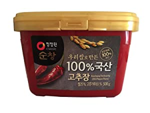 Chung Jung One Gochujang Paste, Premium Korean Red Chili Paste with 100% Korean Ingredients, 500g (1.1lb) (1 Pack)