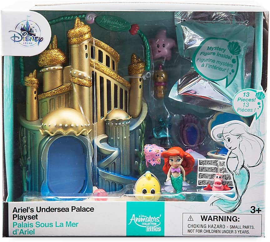 Disney Ariel Animator Collection Littles Playset Little Mermaid Micro Set