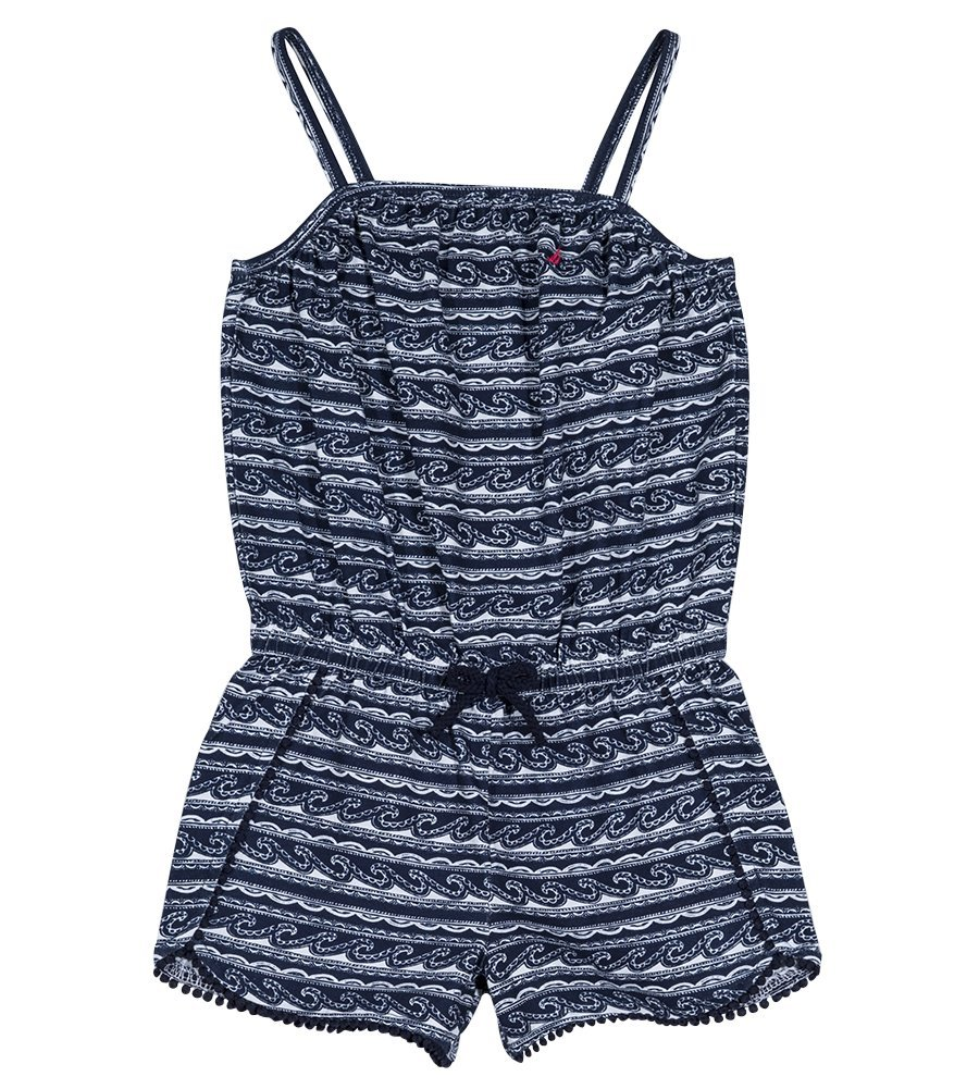 Nautica Toddler Girls' Fashion Romper, Navy Pom Pom, 2T