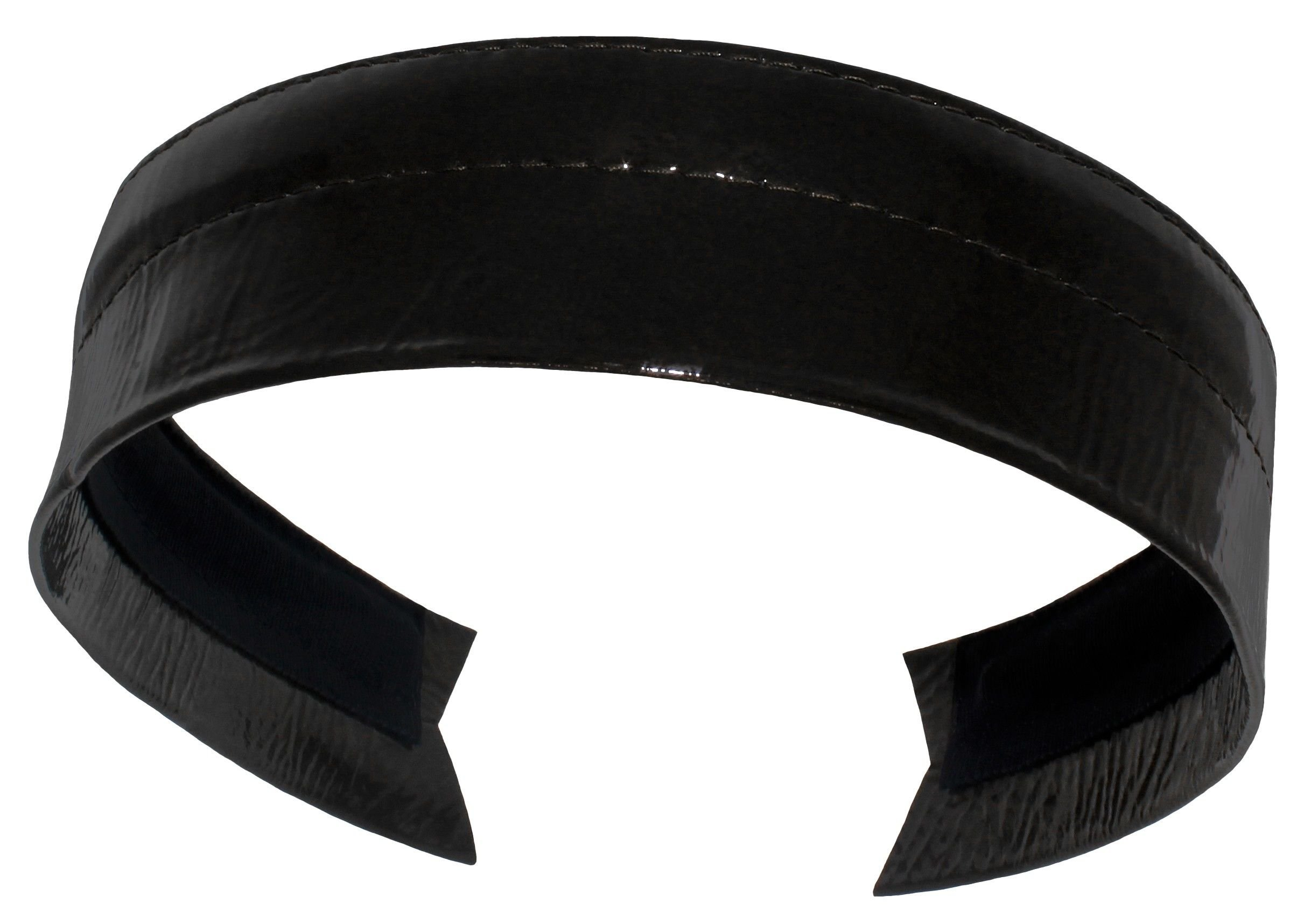 Essential Shiny Black Leather Headbands