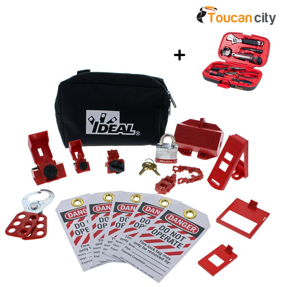 Toucan City Tool kit (9-piece) and Ideal Basic Lockout/Tagout Kit (15-Piece) 44-970 by Toucan City (Image #1)