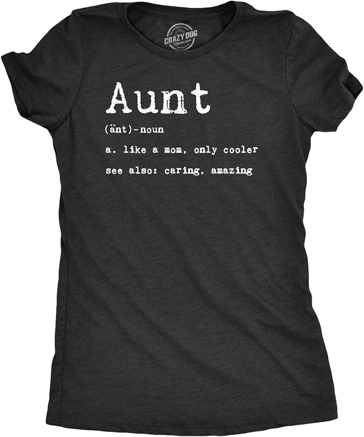 Womens Having A Weird Aunt Builds Character Tshirt Funny Family Auntie Graphic