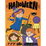 Halloween 1st 2nd 3rd Grade Activity Book: I Spy, Mazes, Coloring, Puzzles, Games and More! (Halloween Activity Books For Kid