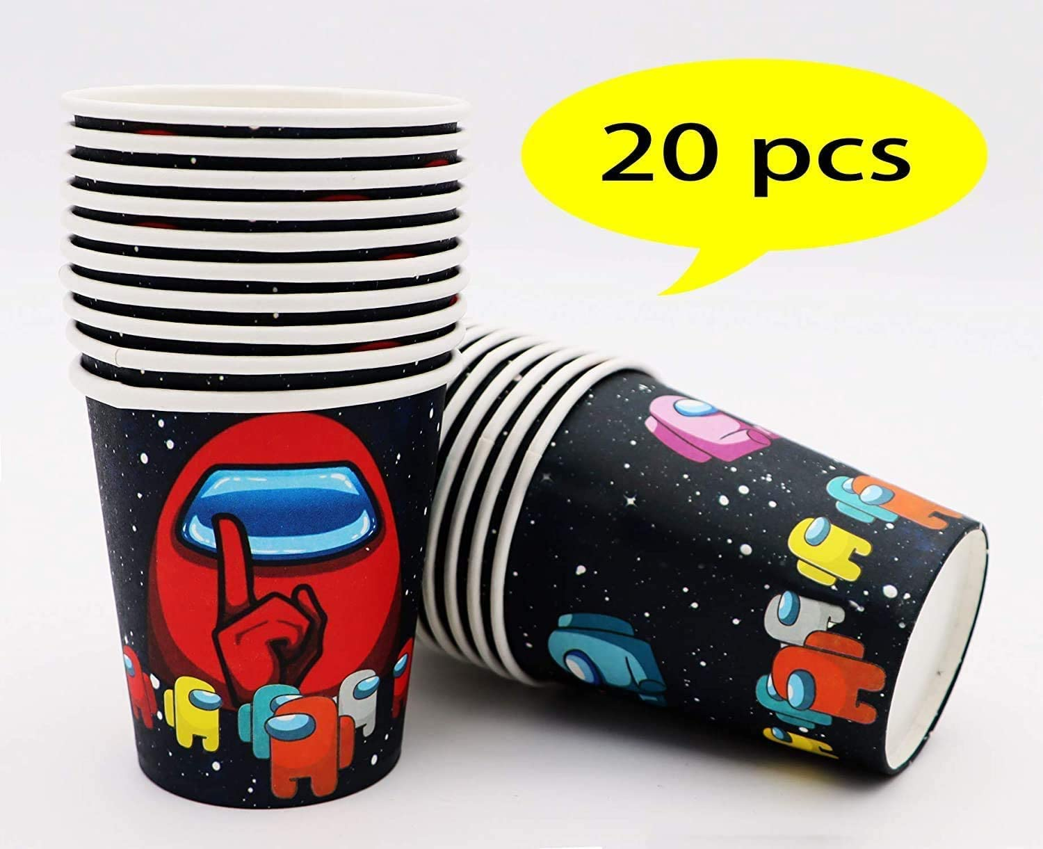 Disposable Cups Party supplies Decorations for Kids Teens Adults Home Birthday Party and Baby Shower Among Us Paper Cups Party Video Game Popular Supplies Set 20