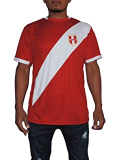 Peru Soccer Jersey Replica For Men, White or Red. Russia World Cup 2018.