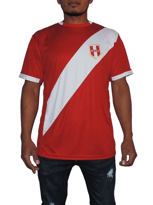 Peru Soccer Jersey Replica For Men, White or Red. Russia World Cup 2018. Camisetas Seleccion Peruana de Futbol