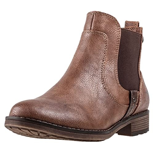 Mustang Damen Chelsea Boots Braun