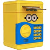 Character Based Money Safe Kids Piggy Savings Bank with Electronic Lock (Yellow)