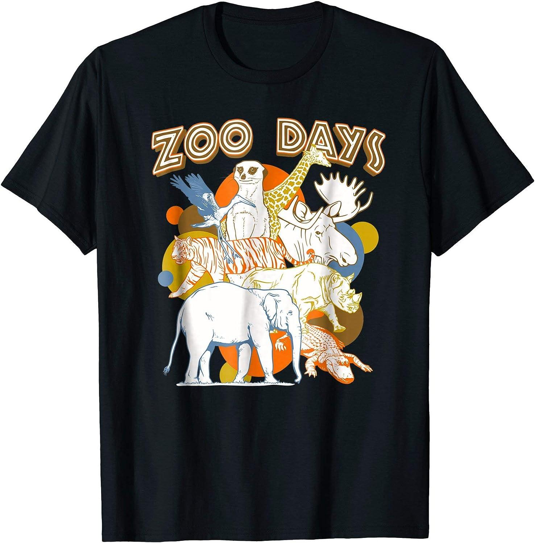 Zoo días animales T-Shirt Azul azul marino L: Amazon.es: Ropa y ...